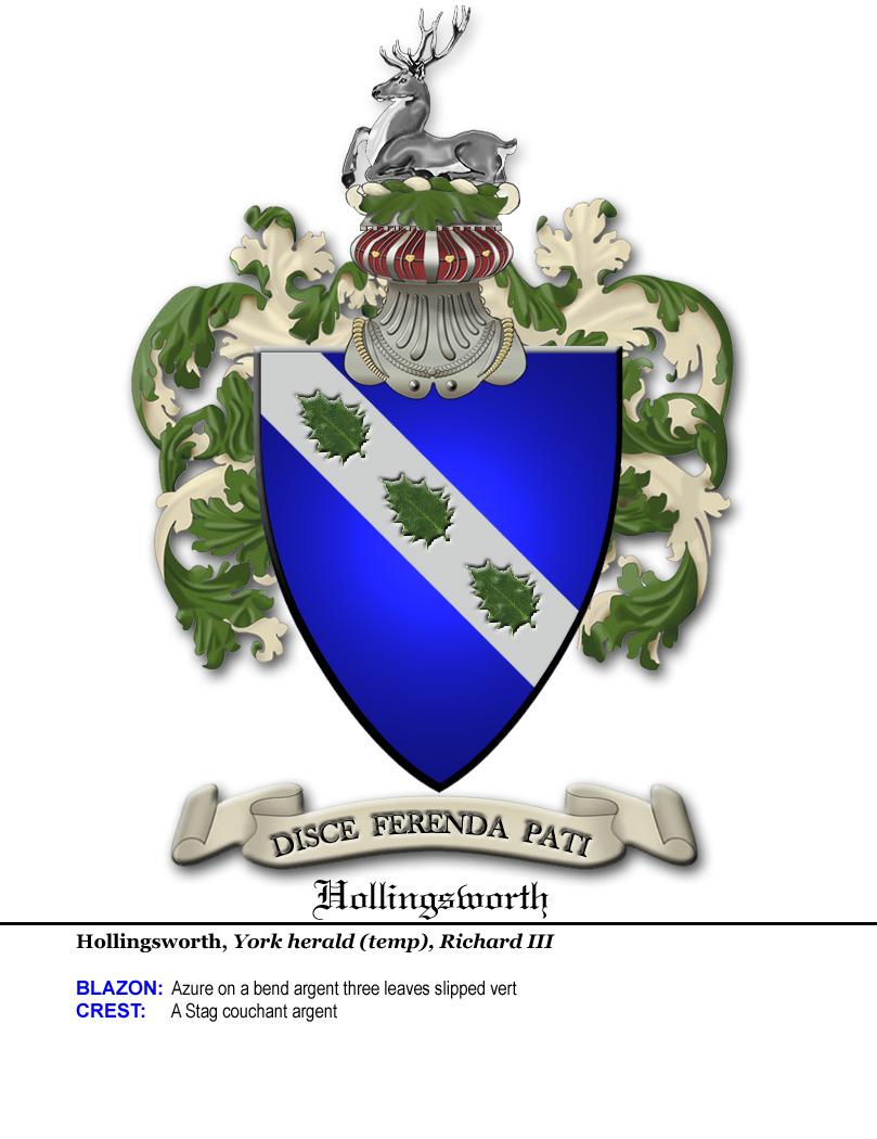 Hollingsworth family crest buycottarizona