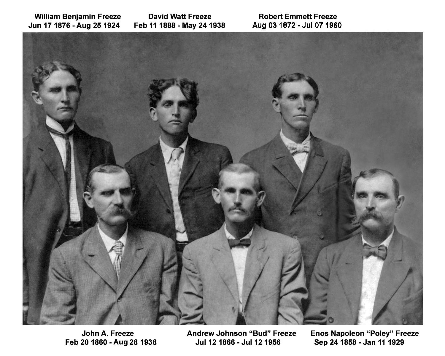 Sons of Ben Freeze - ca. 1909